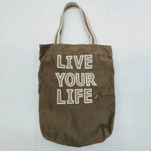 American Eagle Tote Canvas Live Your Life